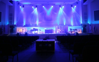 Greenwell Springs Baptist Church Stage with Lighting