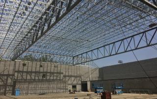 Walker High School Gym in Construction